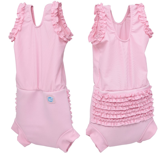 Happy Nappy Swimming Costume Happy Nappy Costume – Pink